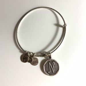 Alex and Ani 'N' bracelet